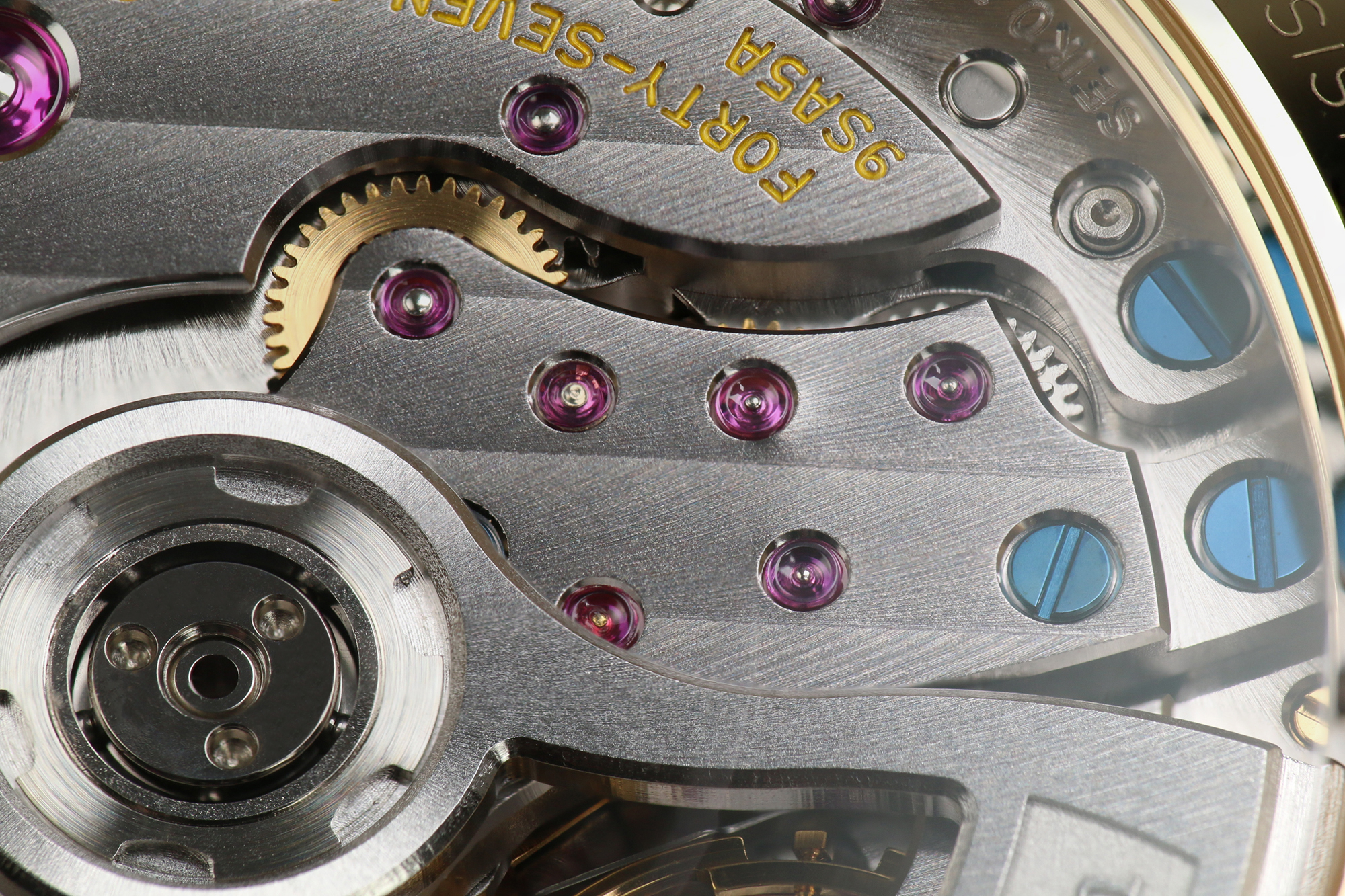 Grand Seiko 9SA5 caliber in detail.