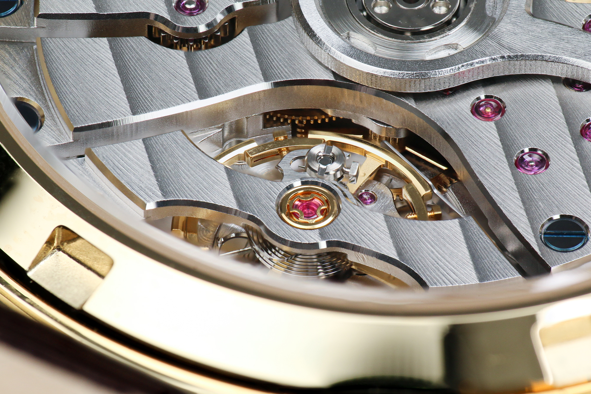 Grand Seiko 9SA5 caliber bridge in detail.