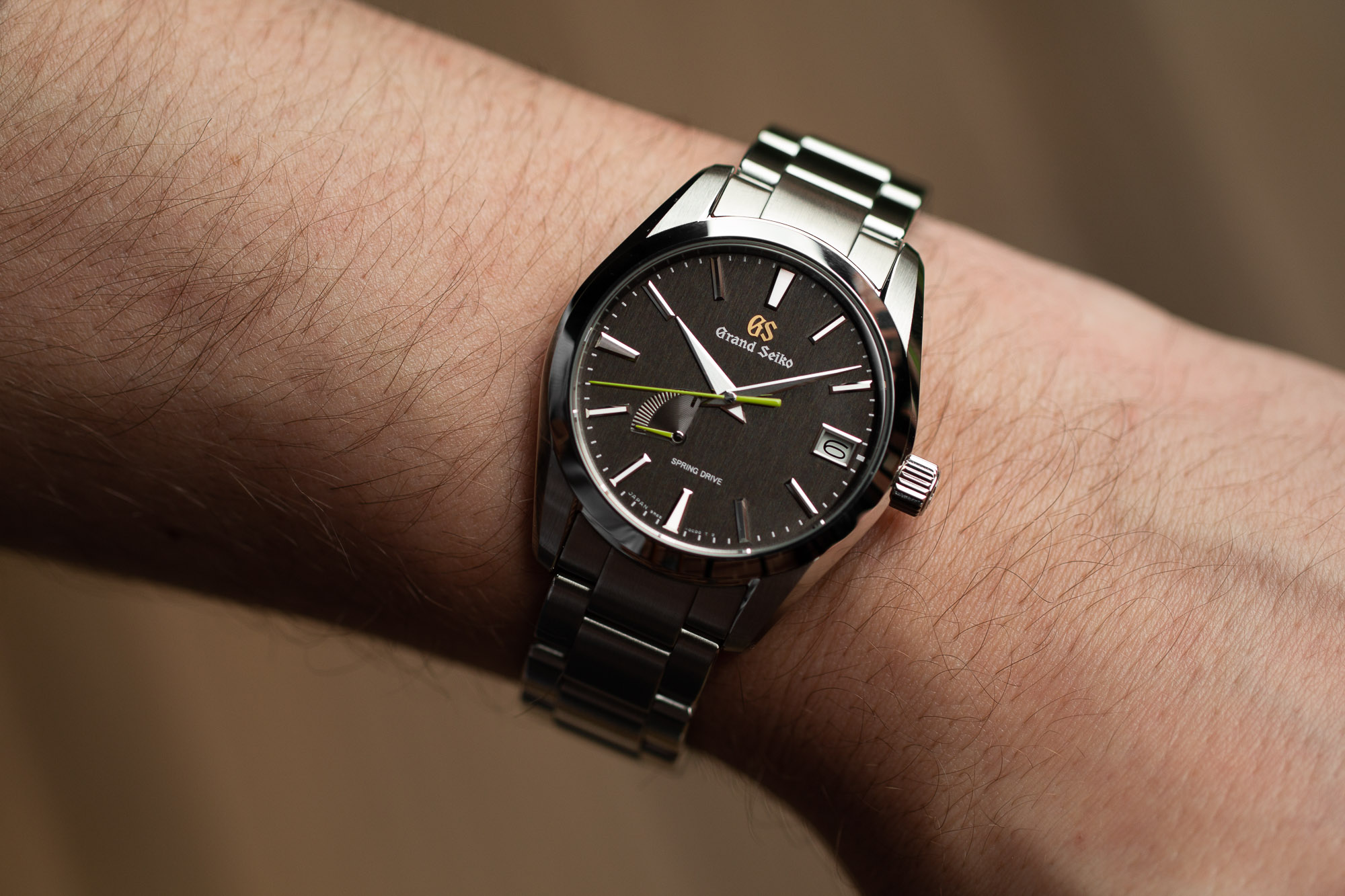 SBGA429 wristwatch on wrist.