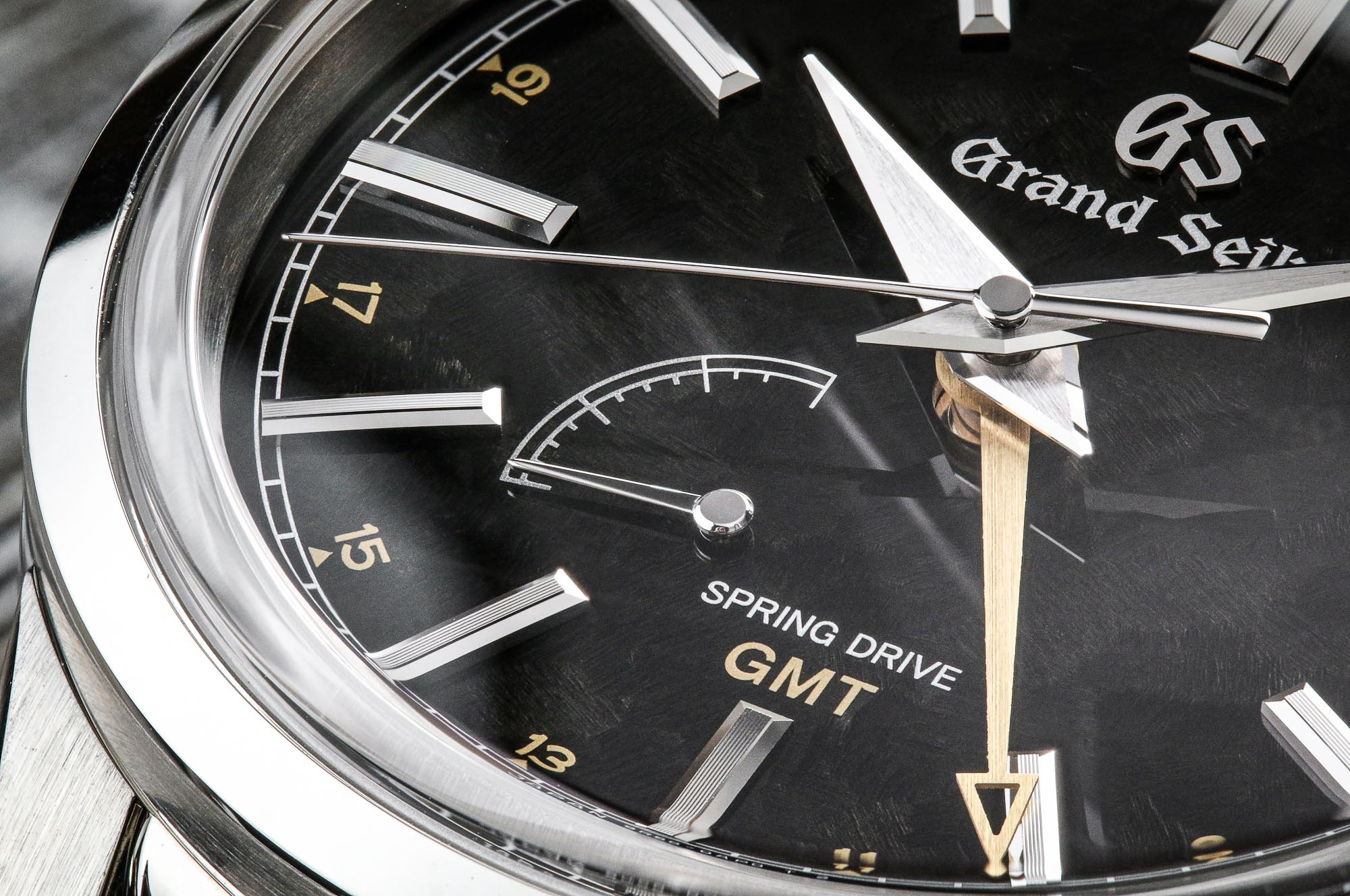 Grand Seiko SBGE271 black dial detail