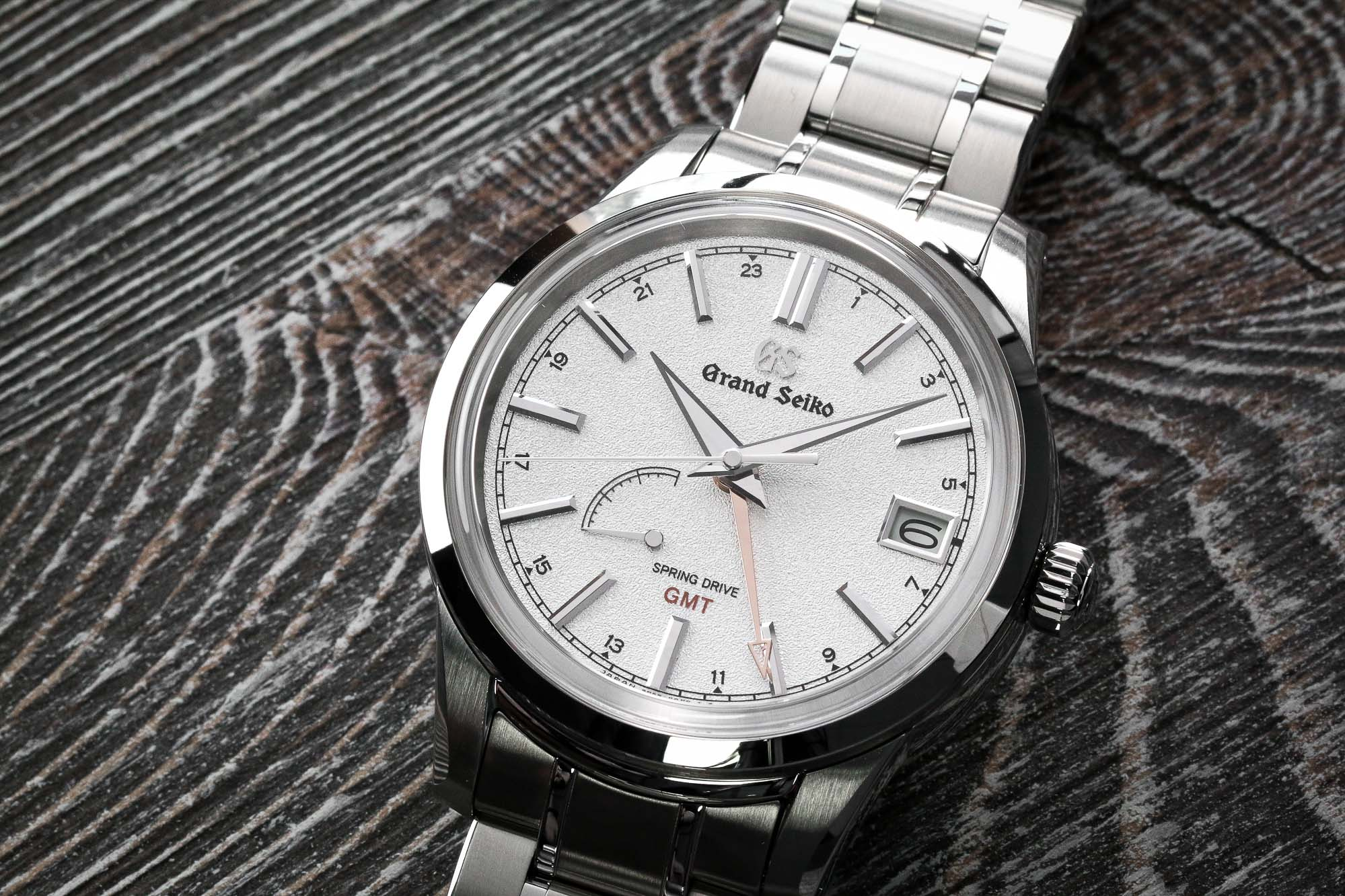 Grand Seiko SBGE269 white dial stainless steel wristwatch