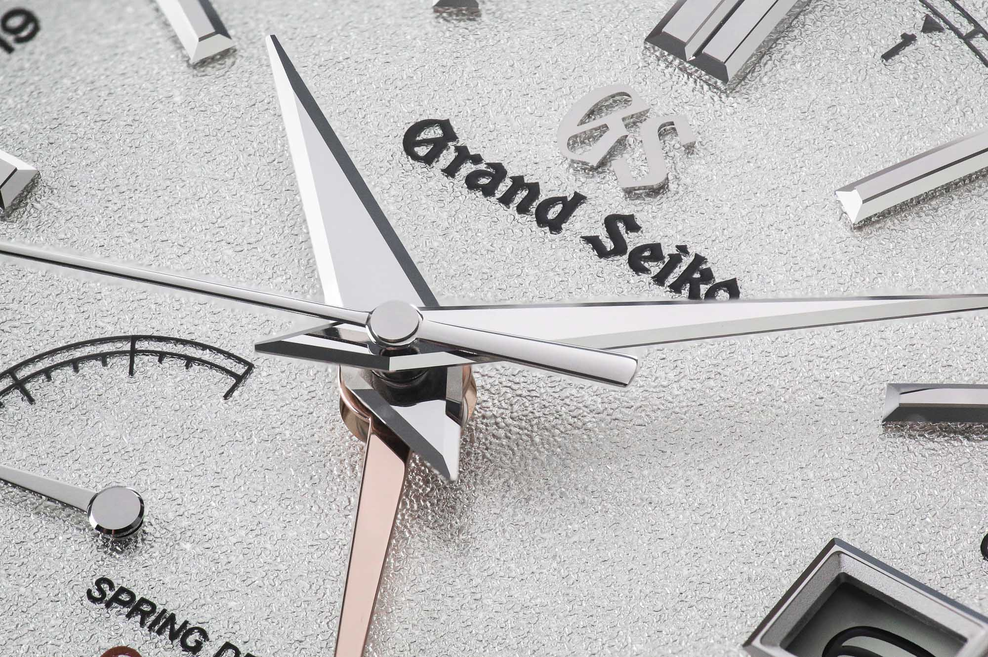 Grand Seiko SBGE269 white dial detail