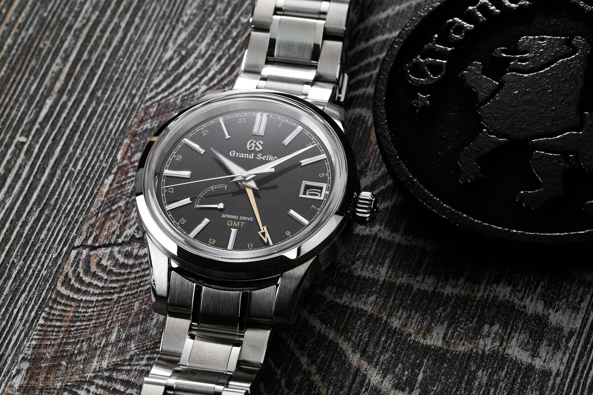 Grand Seiko SBGE271 black dial stainless steel wristwatch