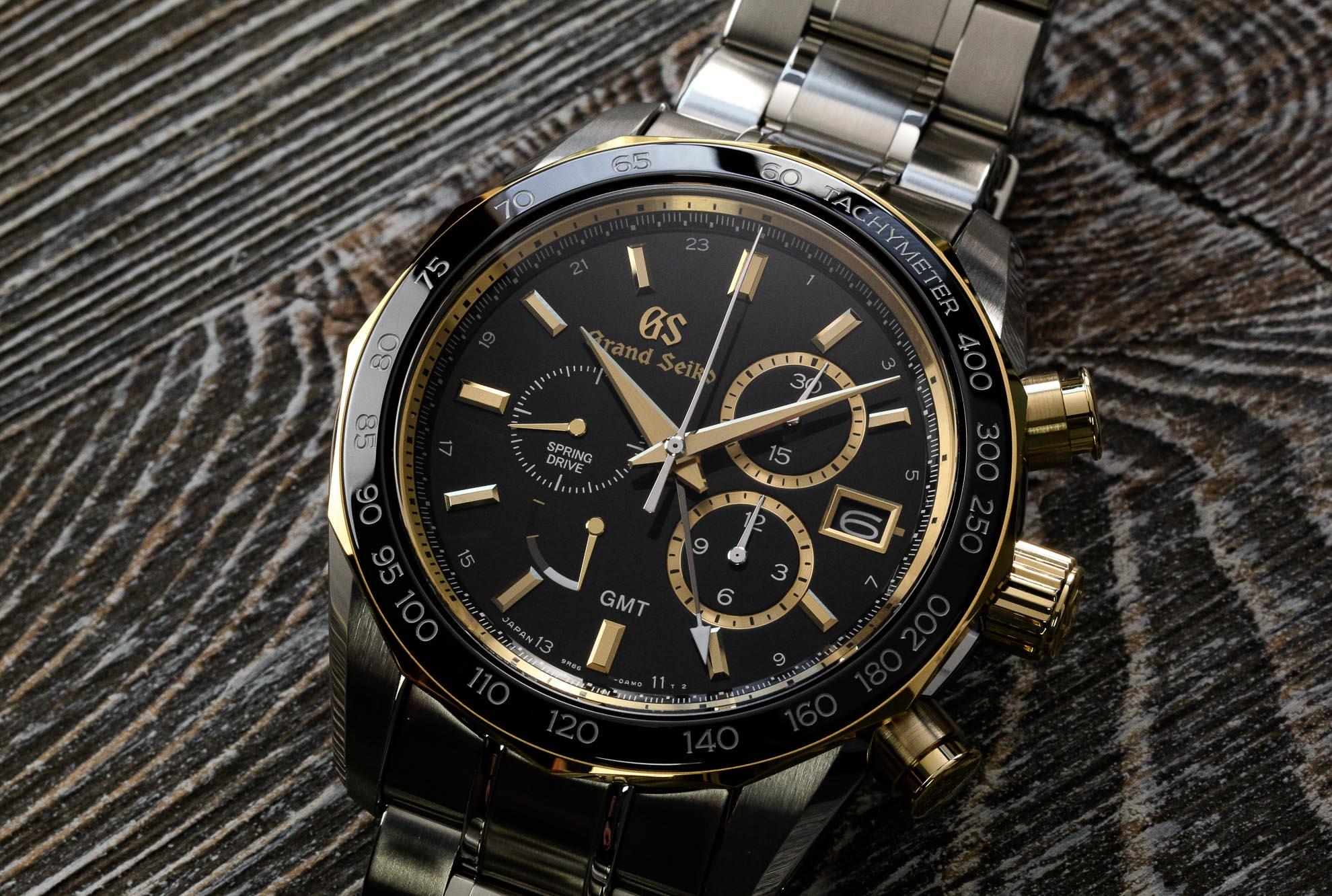 Grand Seiko SBGC240 steel and gold chronograph