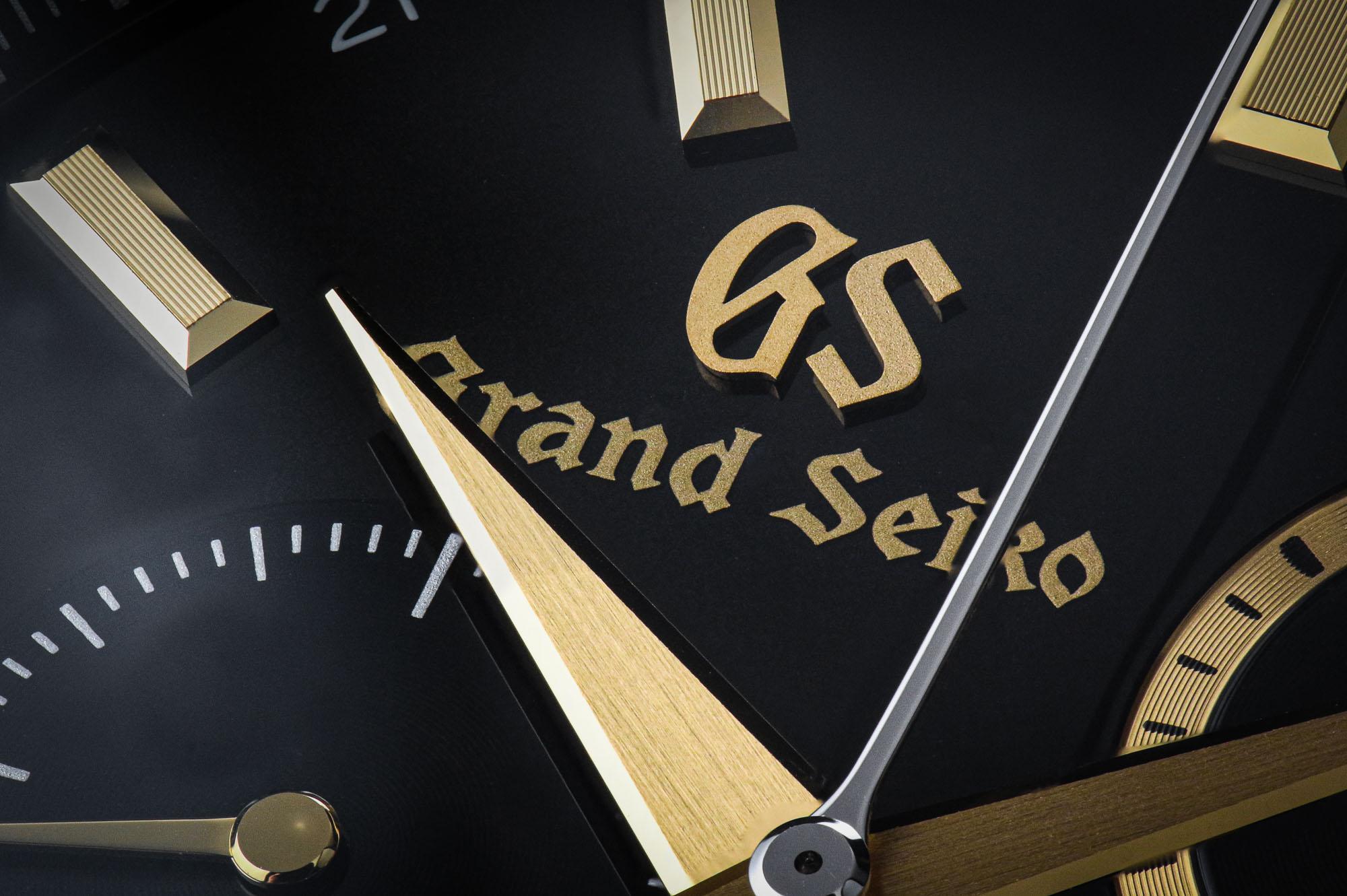 Logo detail on Grand Seiko SBGC240