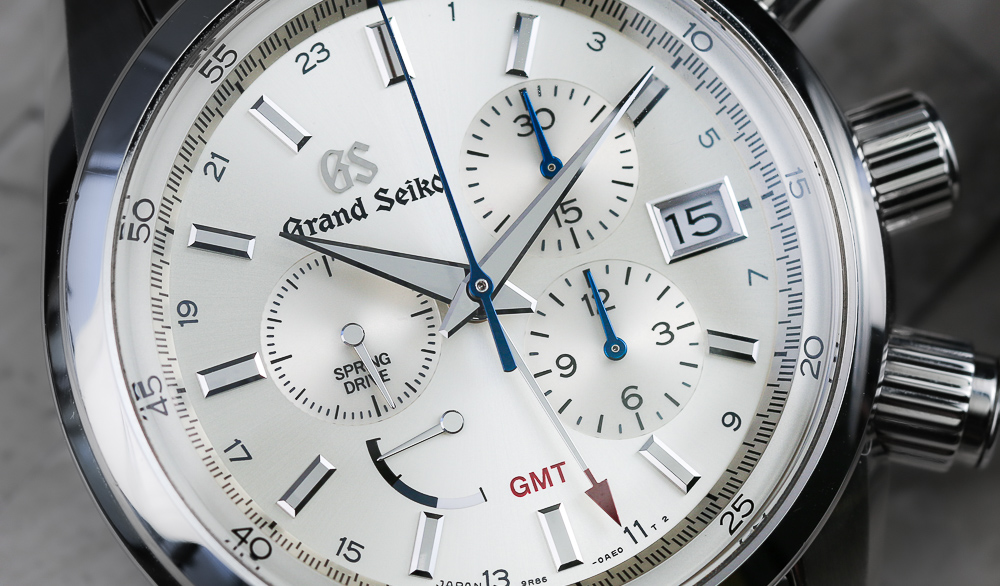 Grand Seiko SBGC201 champagne sun-ray dial.