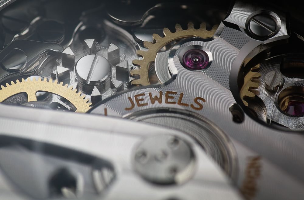 A detail image of the column wheel of Grand Seiko movement 9R86.