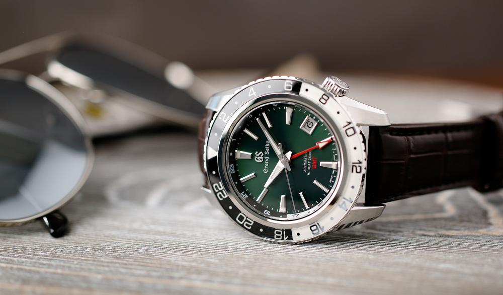 Grand Seiko SBGJ239 Hi-Beat GMT green-dial men's watch