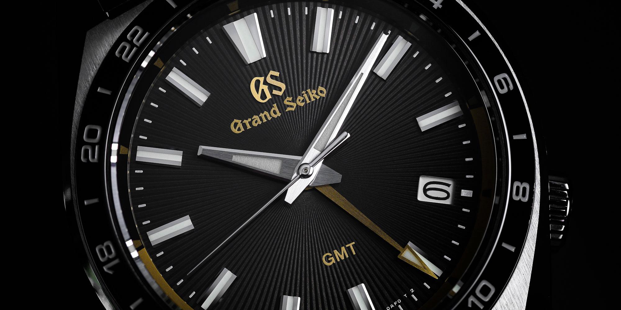 Closeup dial detail of Grand Seiko SBGN023