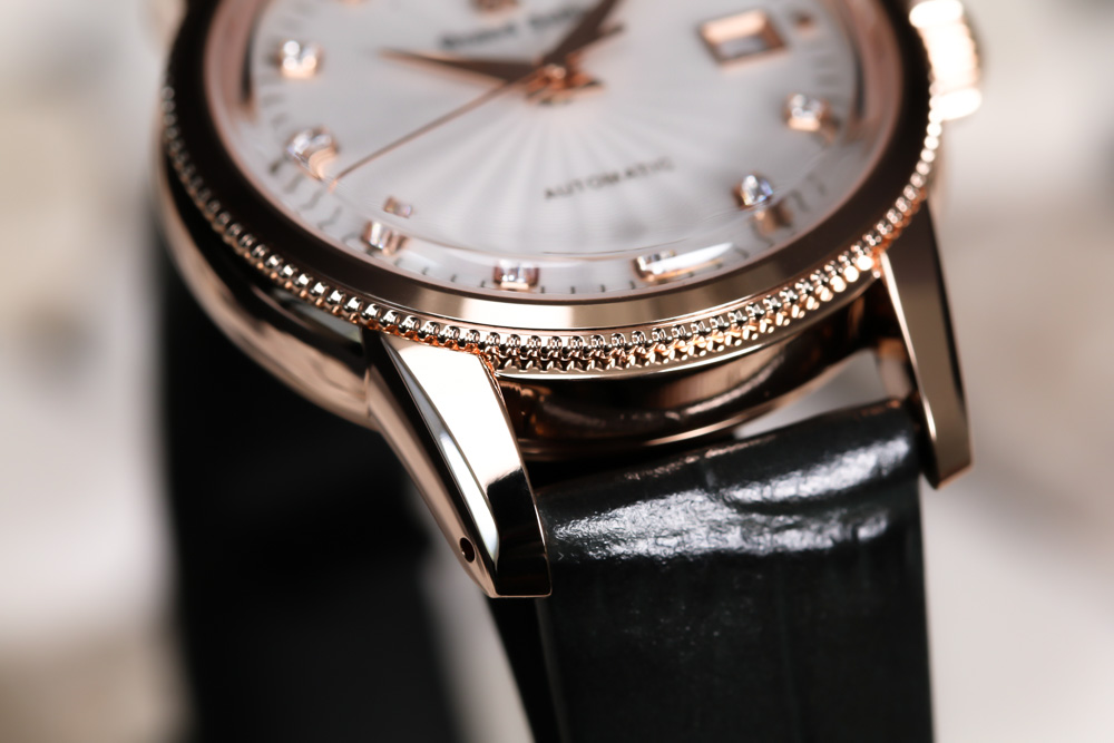 Grand Seiko STGK016 gold ladies' wristwatch on leather strap