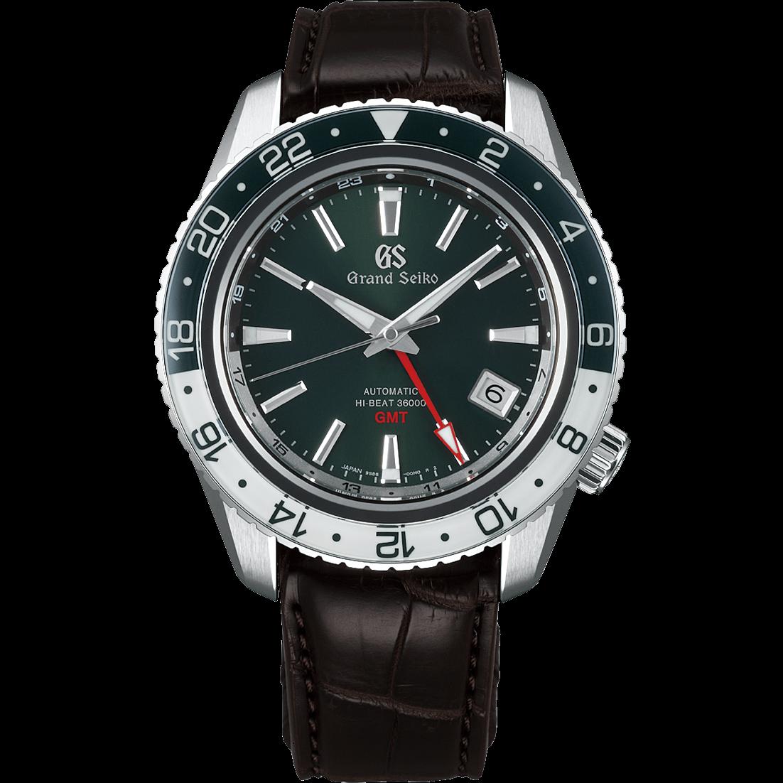 Grand Seiko SBGJ239 Hi-Beat green-dial men's wristwatch