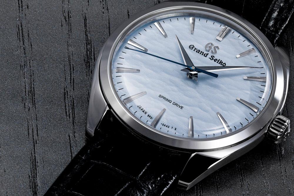 Grand Seiko SBGY007 Omiwatari blue dial men's wristwatch