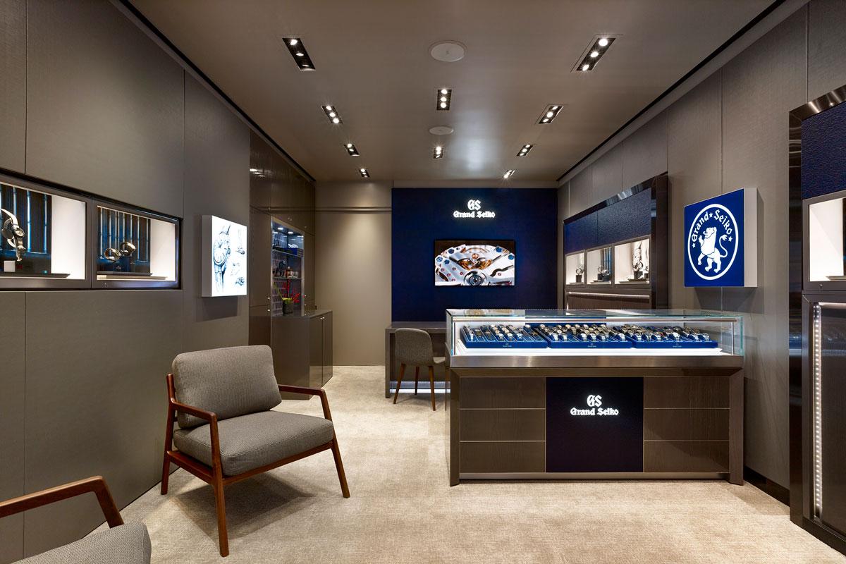 Interior of Grand Seiko Madison Avenue Boutique
