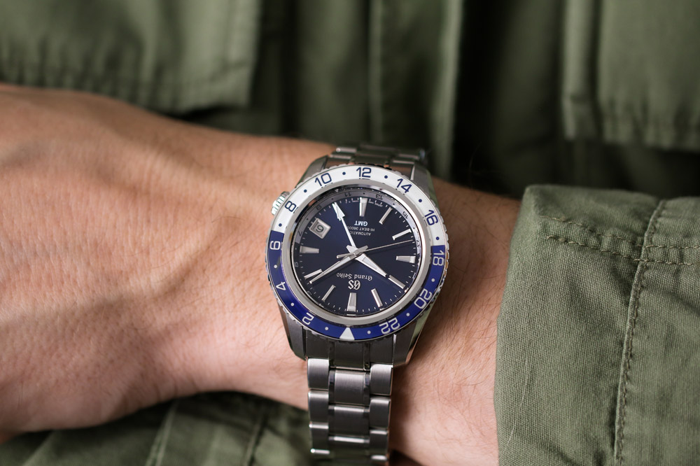 Grand Seiko SBGJ237 on the wrist.