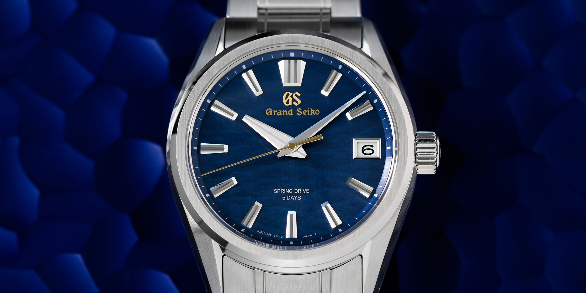 Grand Seiko SLGA007 blue dial men's wristwatch powered by Spring Drive 9RA2.
