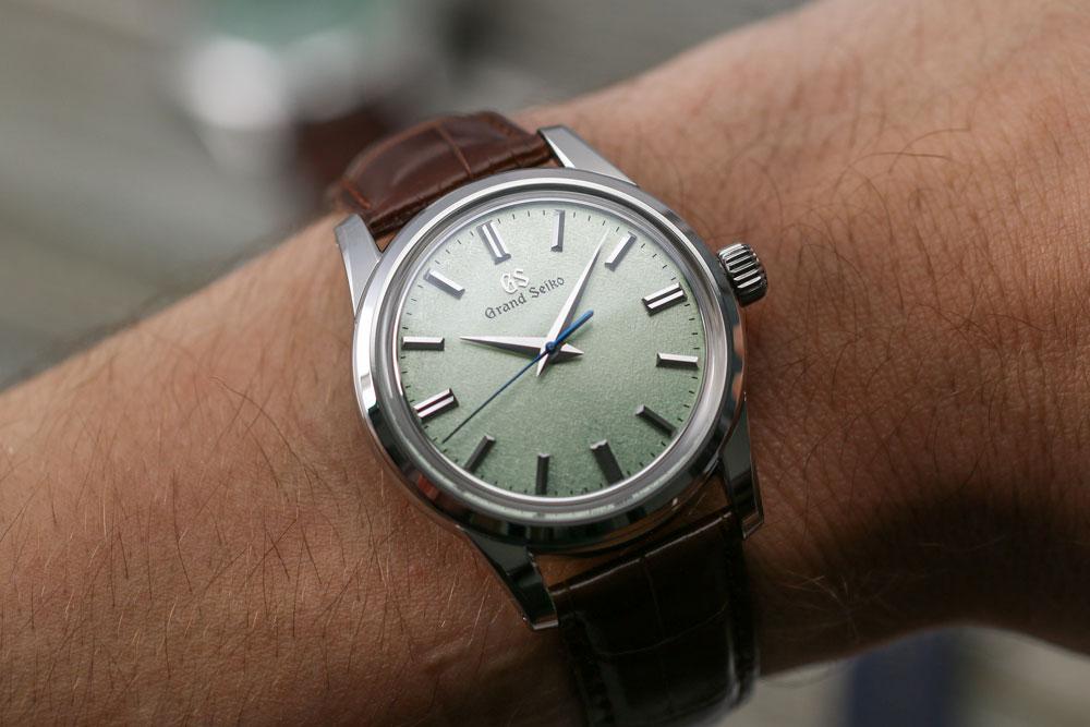 Grand Seiko SBGW273 watch on the wrist.