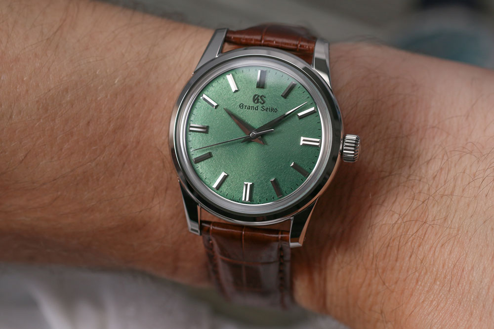 Grand Seiko SBGW277 watch on the wrist.