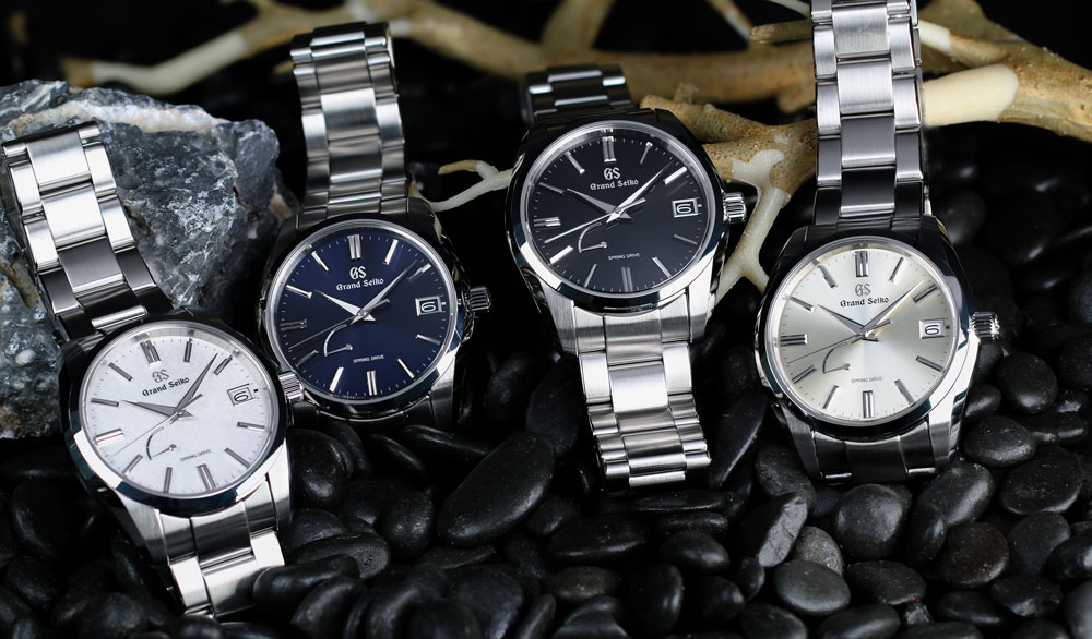 Grand Seiko Spring Drive stainless steel timepieces