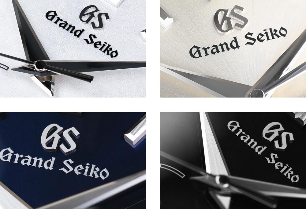 Dial macros of four Grand Seiko Spring Drive models.