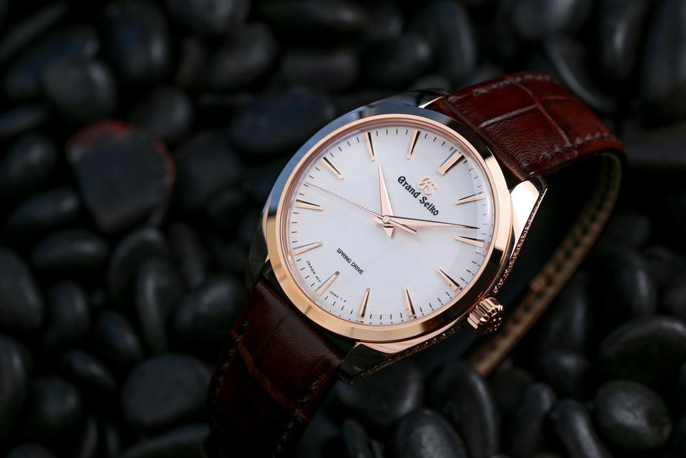 Grand Seiko SBGY008 rose gold wrist watch